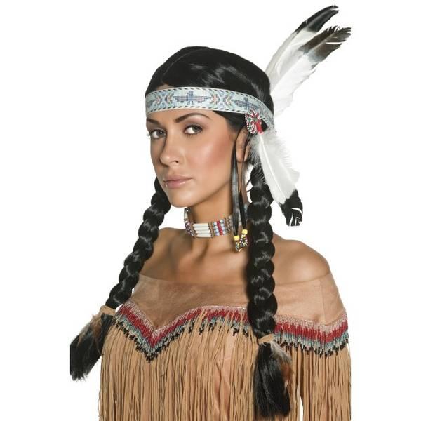 Bilde av Native American Inspired Wig, svart