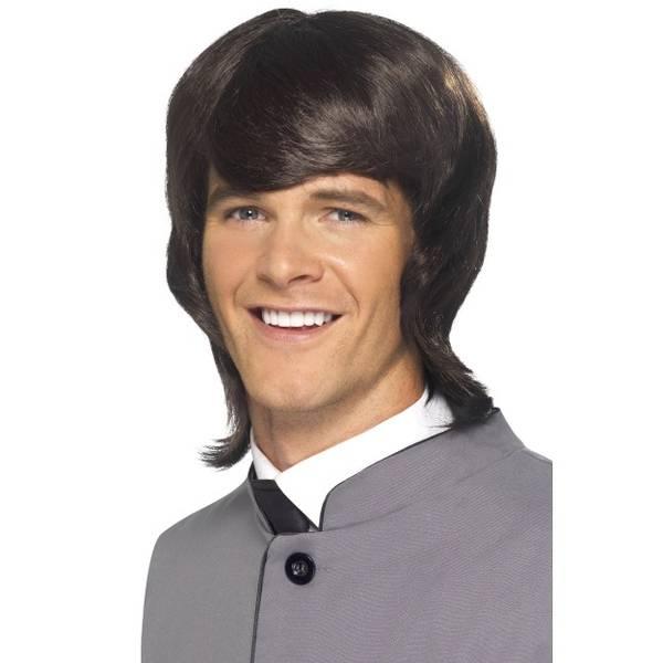 Bilde av 60's Male Mod Wig, brun lang