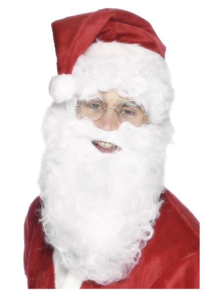 Bilde av Julenisse skjegg, hvit