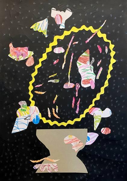 Kristine Vintervold, Tegning i svart og gult