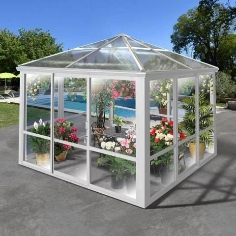 Bilde av Lyon Premium paviljong 3x3m hvit m/vegg