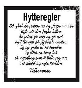 Bilde av Servietter - Hytteregler 20 stk.