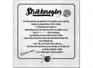 Bilde av Servietter - Strikkeregler 20 stk.
