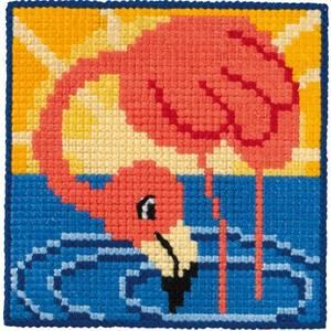 Bilde av Broderipakke til barn -Flamingo