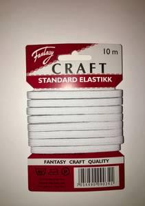 Bilde av Craft Standard Elastikk hvit, 6 mm 10 meter