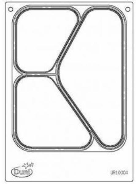 Duni kassett for 3-roms skål til Duniform DF10 / DF20