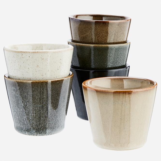 Bilde av Stoneware cups D:7x6 cm
