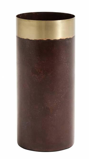 Bilde av Slim vase, dark red patina,