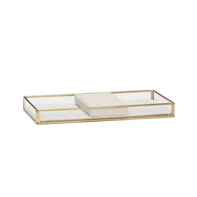 Bilde av Glassboks, messing/glass,