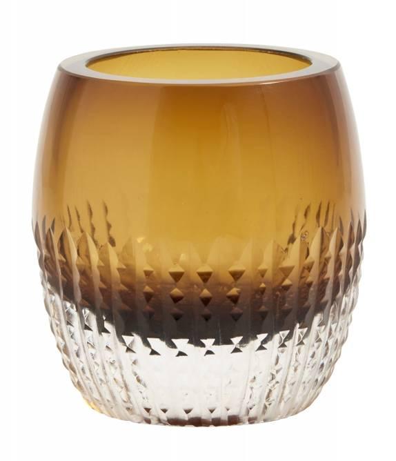 Bilde av Glass votive, amber, for