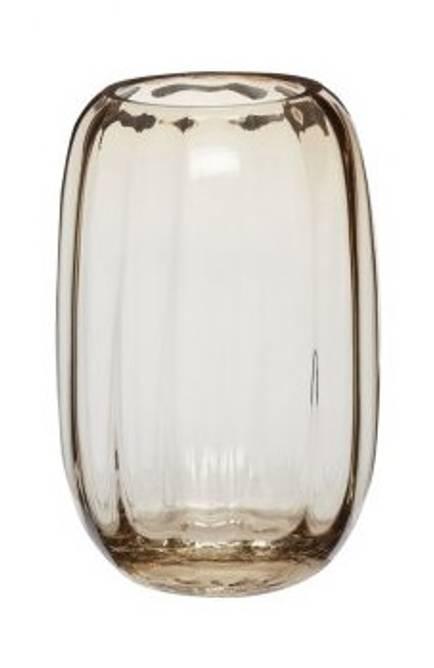 Bilde av Vase, glas, lys brun,