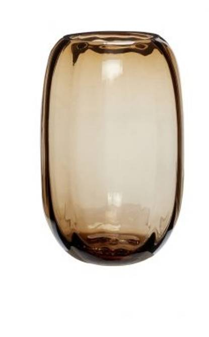 Bilde av Vase, glass, brun,  ø10xh17