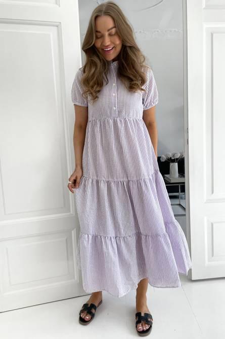 Bilde av Tiffy Dress - Purple Stripe