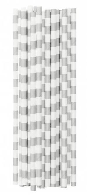 Bilde av Paper straw new silver