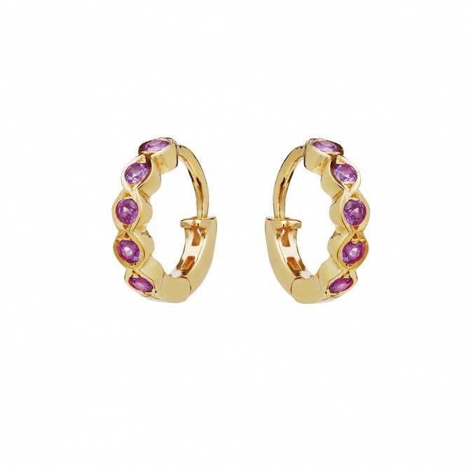 Bilde av Kanya Earrings Pink Tourmalin