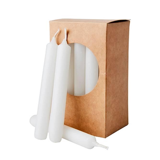 Bilde av White candles, 20-pack, ø1,2