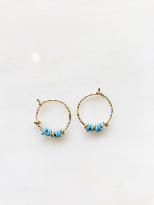 Bilde av Ambre Turkis perler øreringer