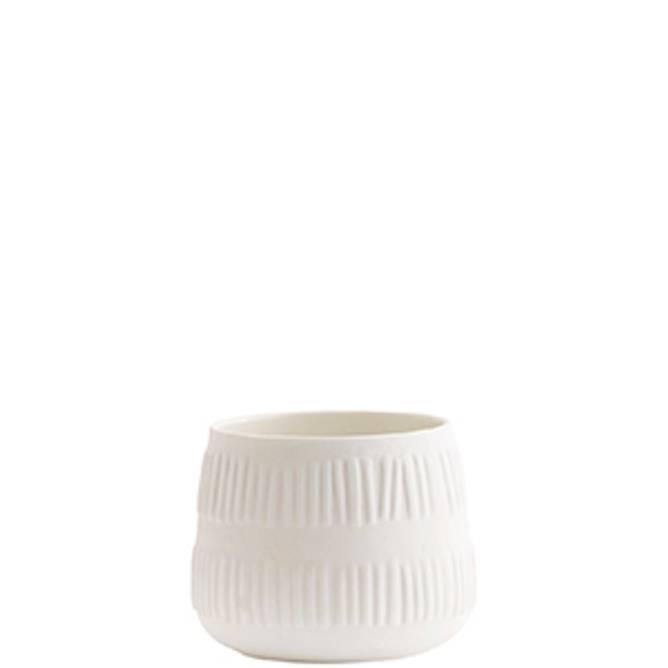 Bilde av Potte/Cup mat white 8,5x7,2