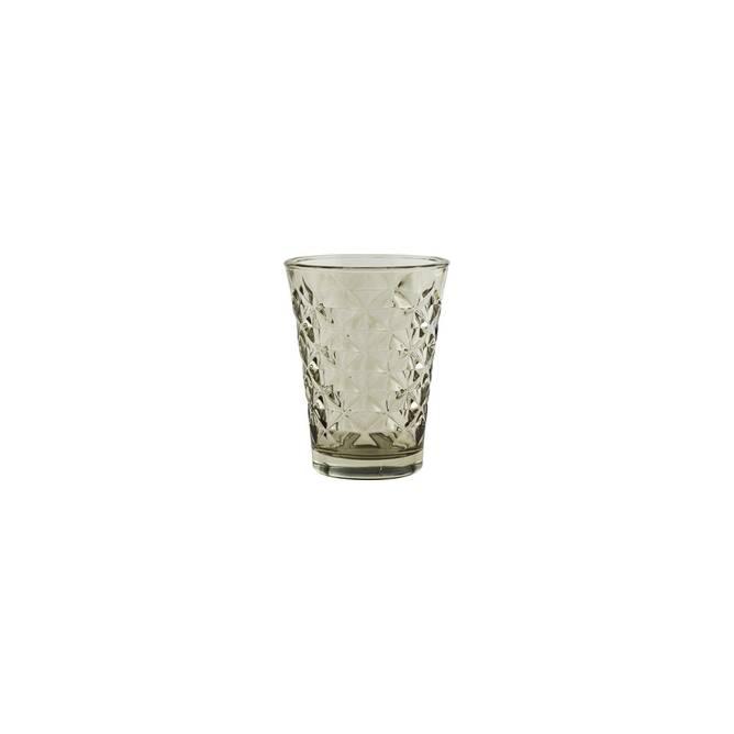 Bilde av Facet glass til lys, H 10 cm,