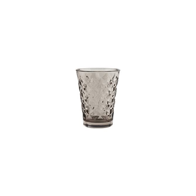 Bilde av facet glas grå H 10 cm