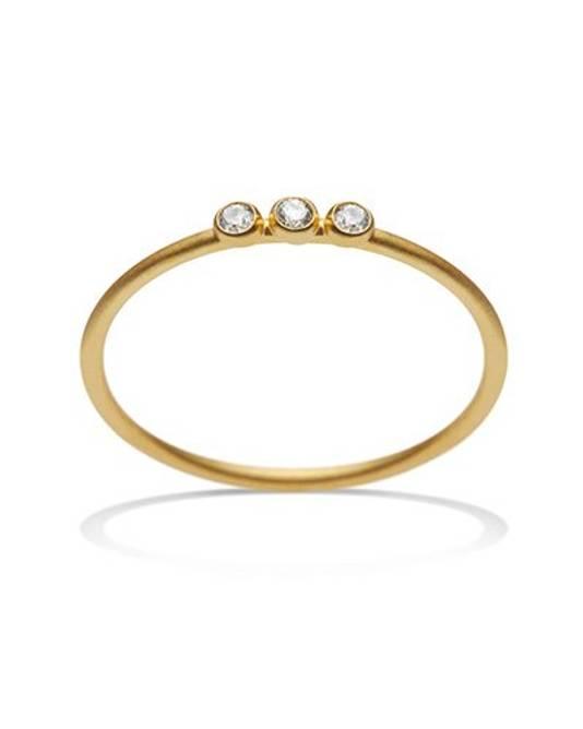 Bilde av Ring med 3 små ædelsten Guld