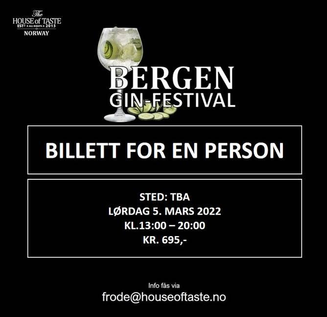 Bilde av BERGEN GIN-FESTIVAL 2022 INNGANGSBILLETT - lørdag 5. mars 2022