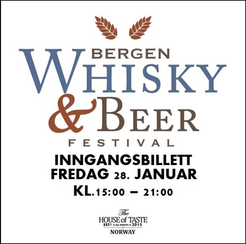 Bilde av BERGEN WHISKY & BEER FESTIVAL 2022 - INNGANGSBILLETT FREDAG 28.