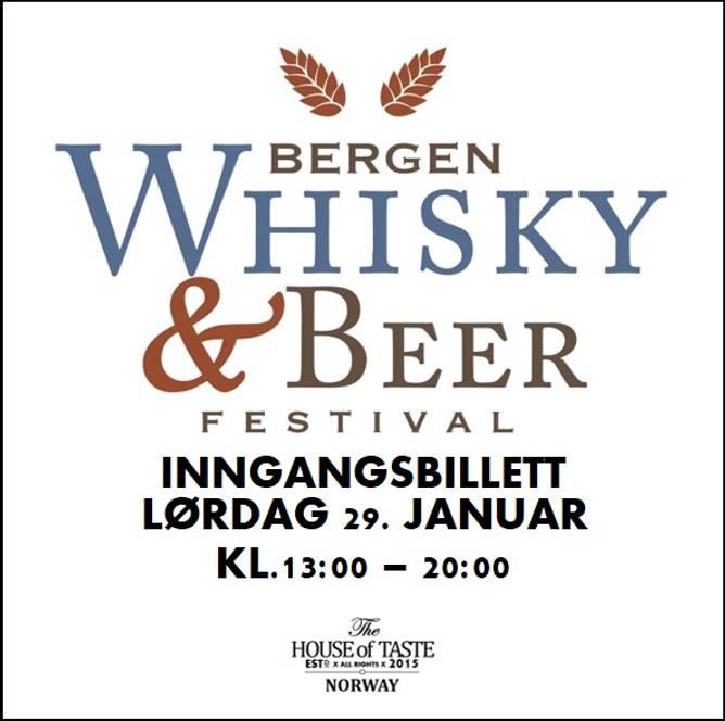 Bilde av BERGEN WHISKY & BEER FESTIVAL 2022 - INNGANGSBILLETT LØRDAG 29.