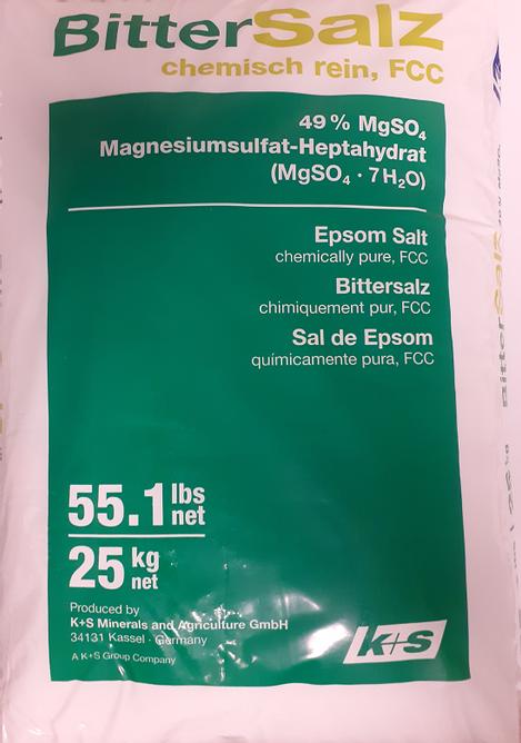 Bilde av Magnesiumsulfat / Bittersalt / Epsomsalt i matkvalitet 25kg