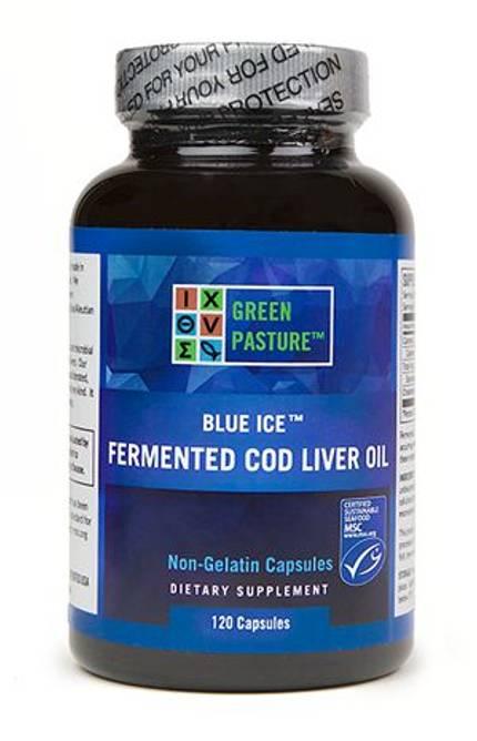 Bilde av BLUE ICE™ Torskeleverolje 120 kapsler  (med vitamin A og D)
