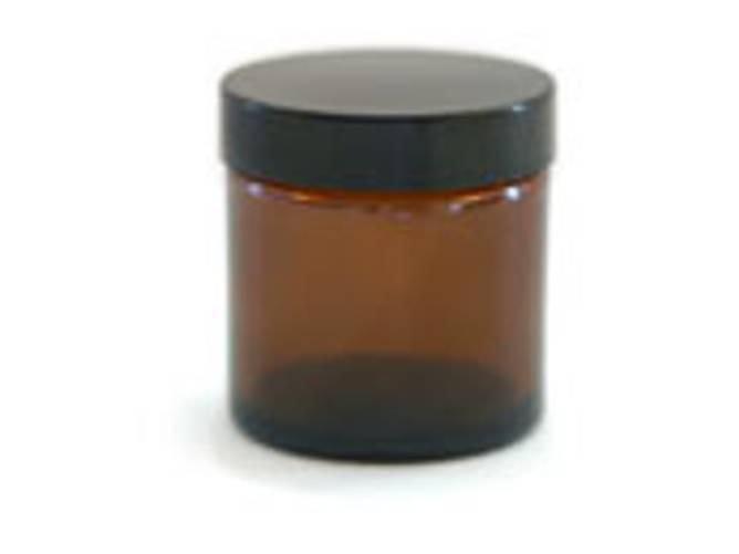 Bilde av Glasskrukke brun med lokk 60ml
