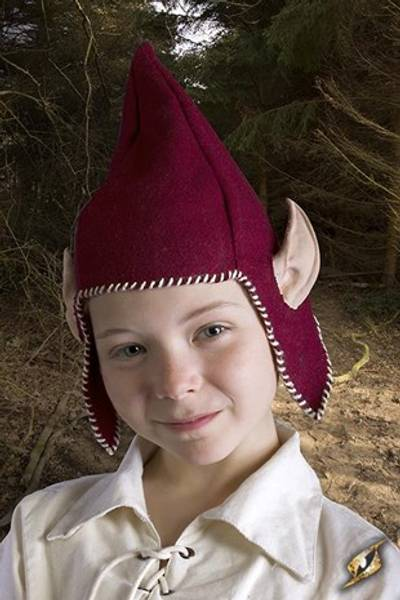 Hood Elf Ears Red-Small