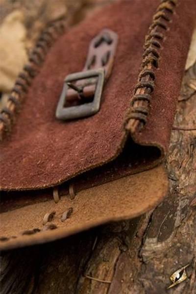 Merchant suede bag - brown