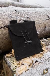 Bilde av Leatherbag Thin black- small