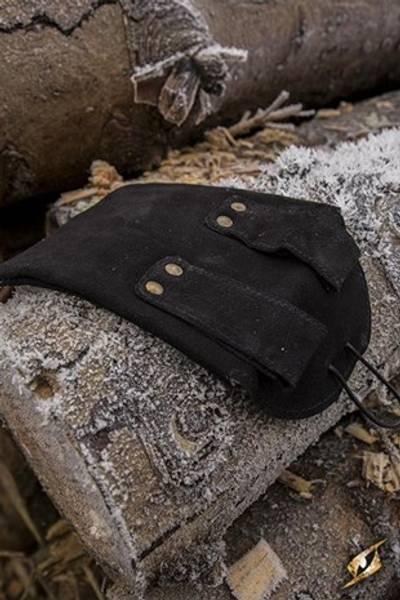 Leatherbag Thin black- small