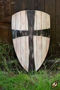 Bilde av Crusader Shield - Black/White 90x60cm