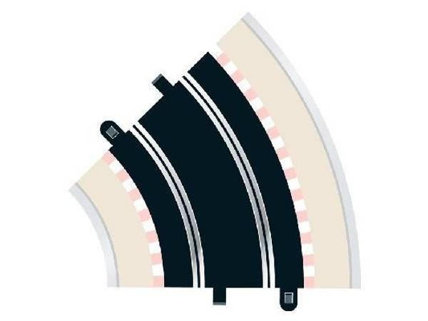 Bilde av Scalextric - Buet skinne R2 std kurve, 45°, 2 stk