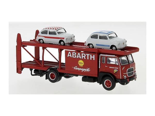 Bilde av Brekina - Fiat løpsbiltransporter, m. 2x Fiat Abarth