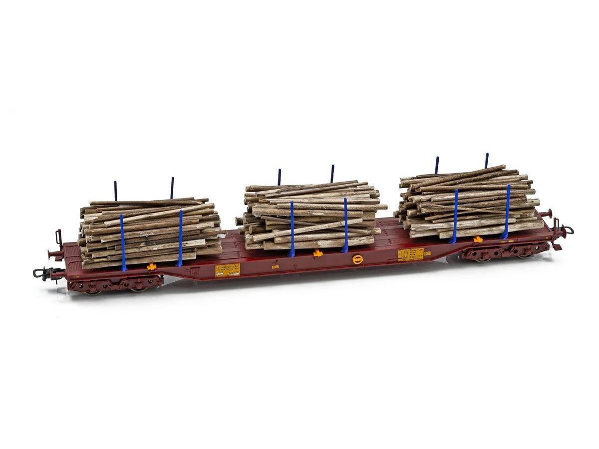 NMJ Topline Three T Tømmervogn Sgs 33 74 454 0 210-6, m tømmer