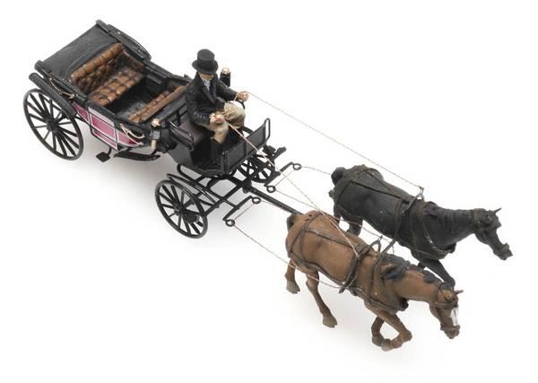 Bilde av Artitec - Landauer med hest og kusk