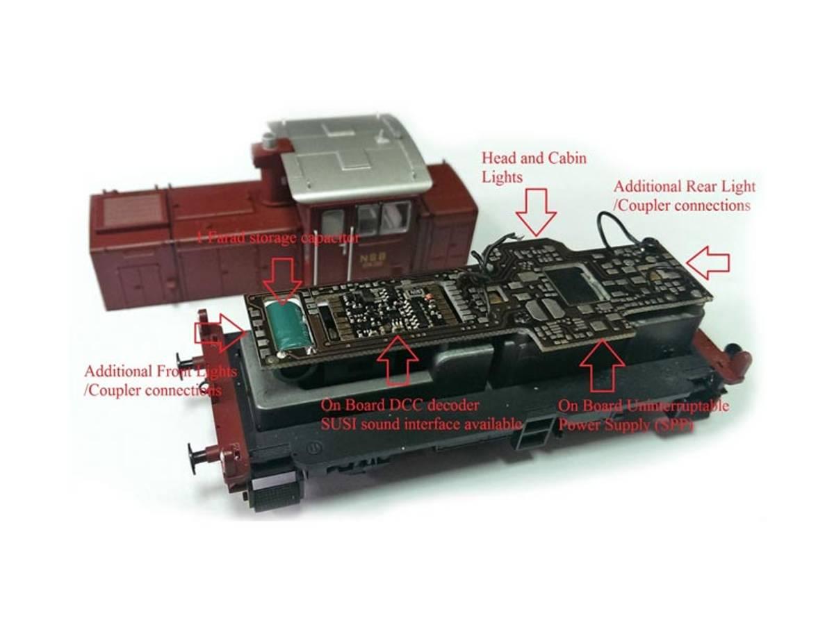 NMJ Skd224 hovedprint m dekoder, kondensator