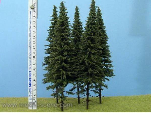 Bilde av Model Scene - Grantrær m. stamme 20cm, 3 stk