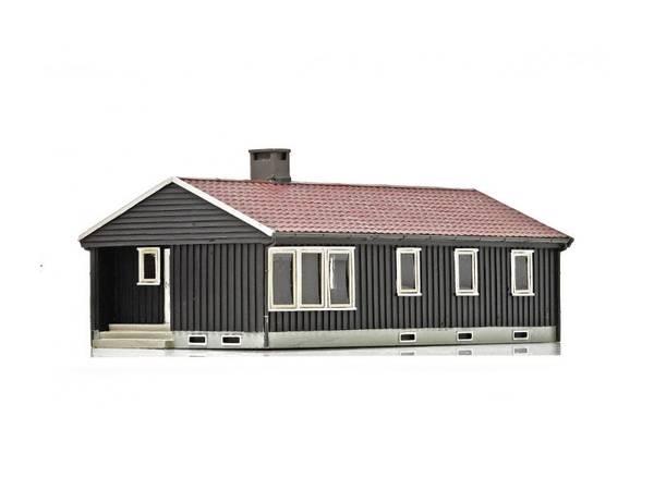 Bilde av NMJ Skyline norsk enebolig, brun/hvit, ferdigmodell