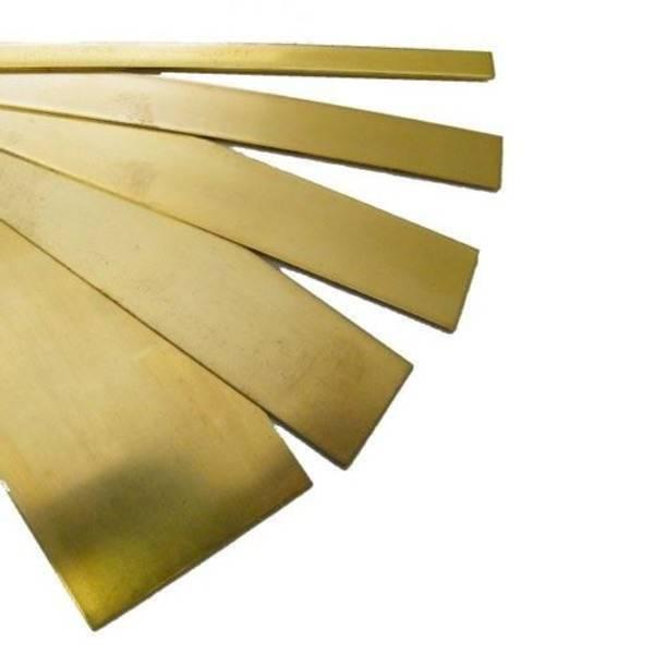 Bilde av K&S - Brass Strip, 1 x 12mm, 3 stk