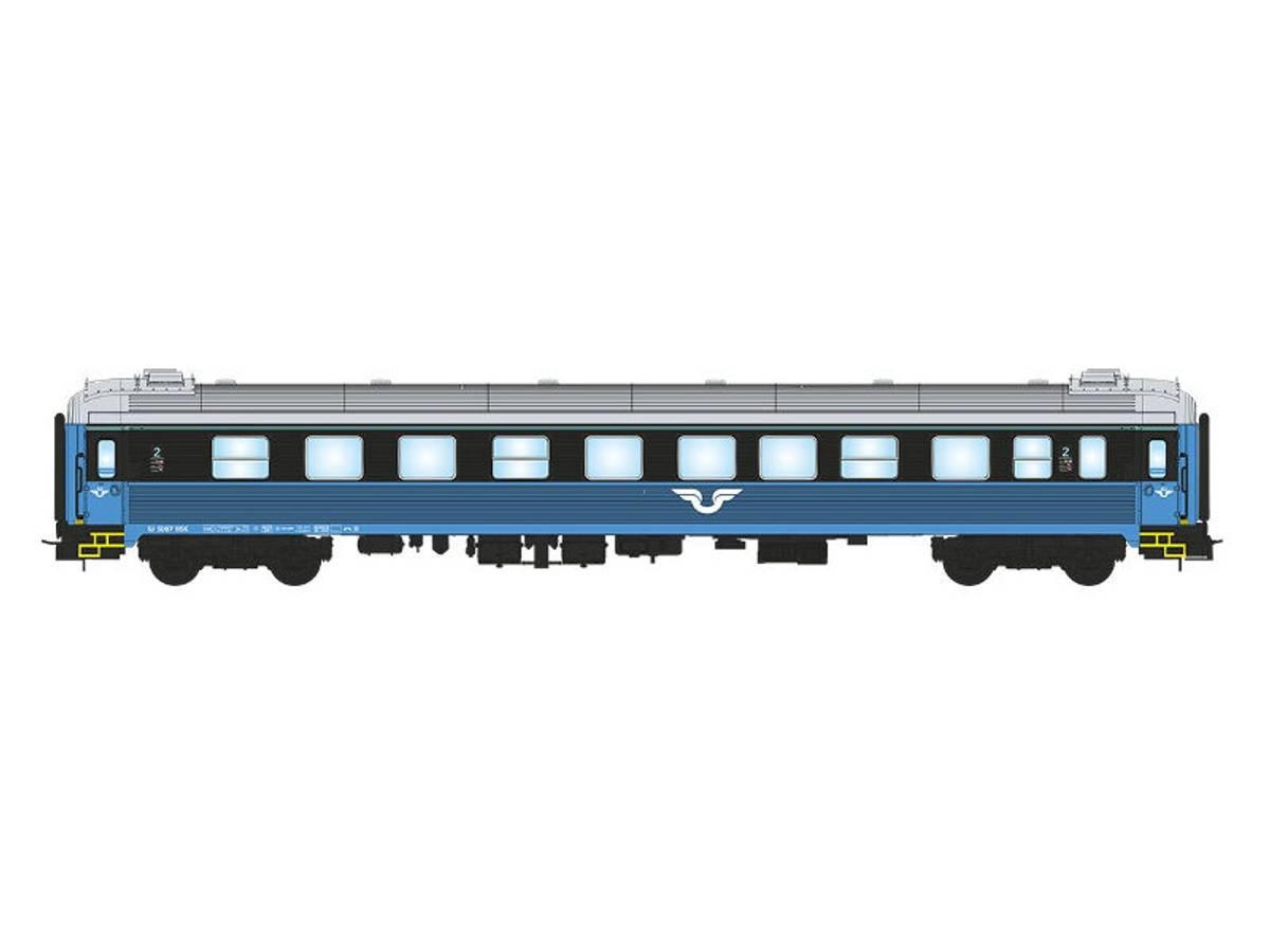 NMJ Topline SJ B5B 4983, 2 kl. Personvogn, blå/sort design V.2