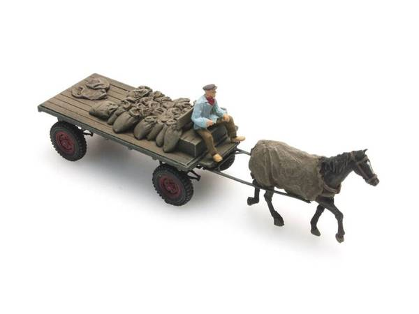Bilde av Artitec - Hest og kjerre, kullvogn