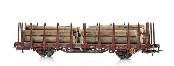 Bilde av NMJ Topline NSB stakevogn Kbps med tømmer
