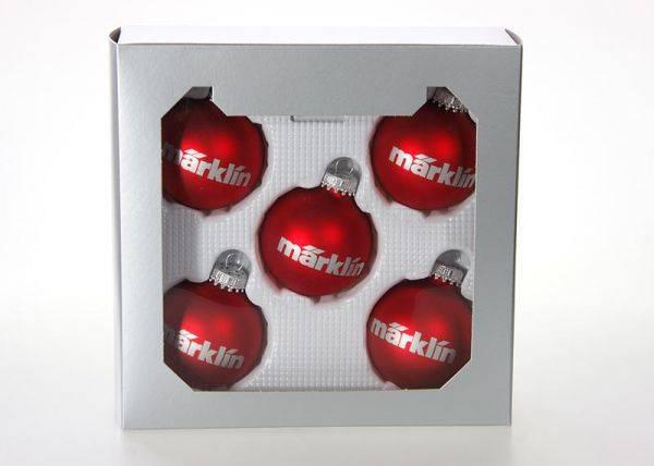 Bilde av Märklin - Juletrekuler 5 stk, røde