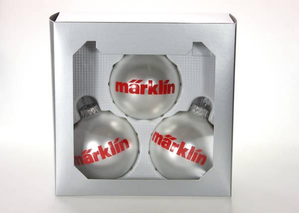 Bilde av Märklin - Juletrekuler 3 stk, sølv