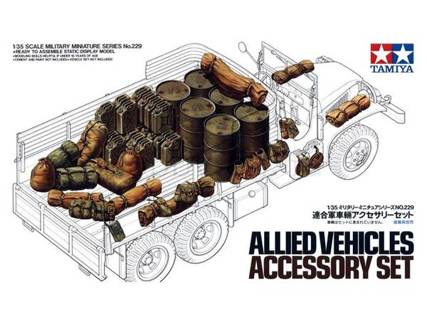 Bilde av Tamiya - 1/35 Allied vehicles accessory set